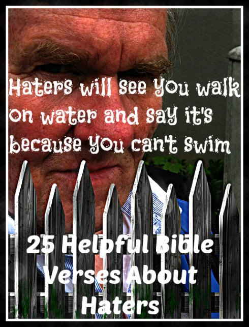 25 Helpful Bible Verses About Haters