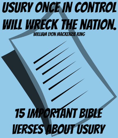15 Important Bible Verses About Usury