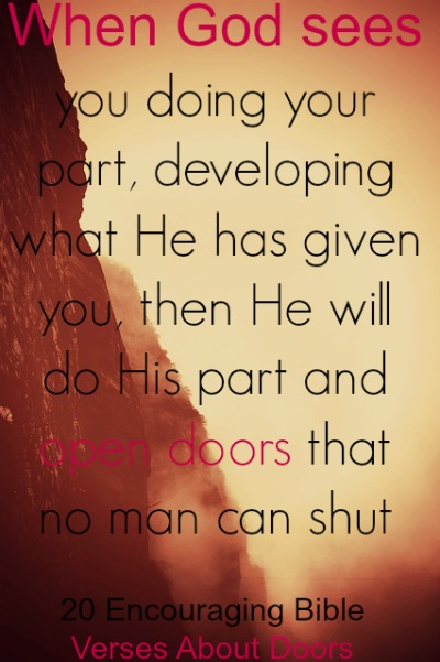 60 Encouraging Bible Verses About Doors New Open Door Quotes