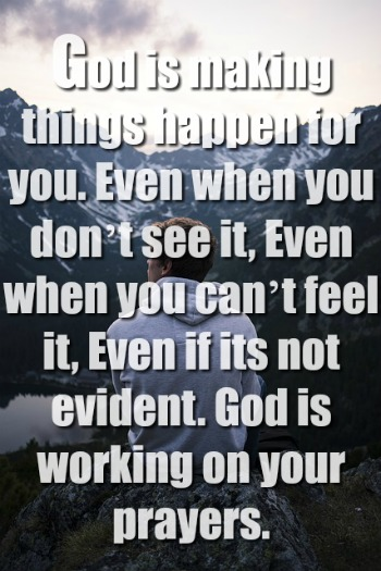 God is making things happen for you.