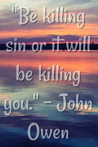 Be killing sin or it will be killing you